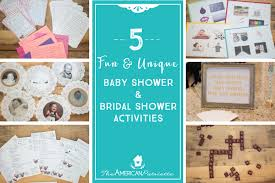 unique baby shower and unique baby shower and bridal shower activities the