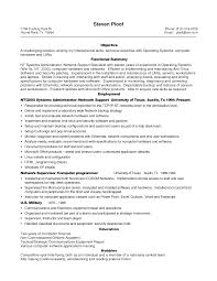Simple Job Resumes by Resume Template For Supervisor Position Free Resume Example And
