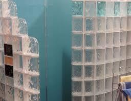 decor bathroom engaging design wall glass block shower amazing
