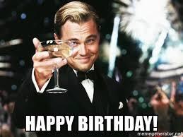Meme Leonardo - happy birthday leonardo dicaprio toast meme generator
