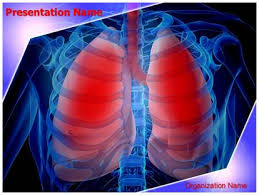 powerpoint design lungs infected lungs powerpoint template background