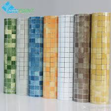 kitchen wall sticker pvc mosaic tile wallpaper bathroom walls