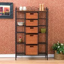 Wood Bakers Rack Amazon Com Sei Manilla 5 Drawer Baker U0027s Rack Kitchen U0026 Dining