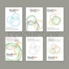 circle layout vector circle vector annual report brochure flyer template design book