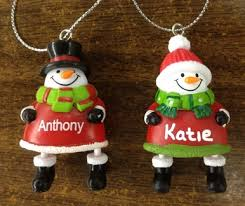 ganz jingle bell personalized name ornaments