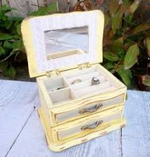 shabby chic distressed white wood recipe box 14 00 via etsy