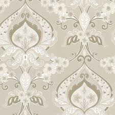 ashbury beige paisley damask wallpaper contemporary wallpaper