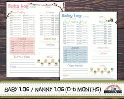 Infant Nanny Resume Nanny Log Printable Nanny Log For Nannies Pinterest Logs