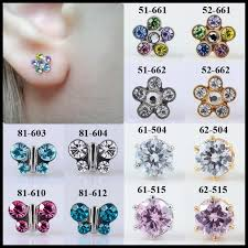 studex earrings fashion pair flower butterfly sterile ear stud earrings