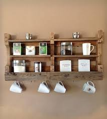 salvaged wood coffee u0026 tea shelf home decor u0026 lighting del
