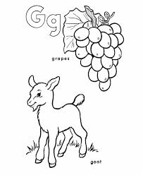 goat and grapes coloring pages alphabet g alphabet coloring