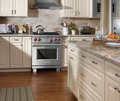 How To Antique Glaze Kitchen Cabinets Ivory Cabinets In Traditional Kitchen Aristokraft