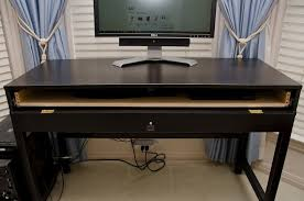 desk with keyboard tray ikea computer desk with keyboard drawer computer desk with a hidden