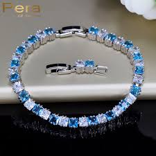 colored tennis bracelet images Pera trendy square light blue cubic zirconia stone micro pave jpg