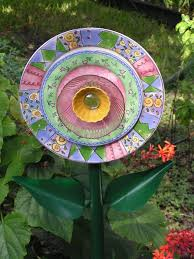 266 best upcycle dishes images on pinterest garden totems glass
