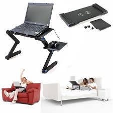 Laptop Desk On Bed 360 Foldable Laptop Desk Table Fans Stand Portable Desk Bed Sofa