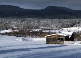 Winter Houses Snowy Winter Landscape With Houses In British Columbia Canada