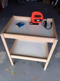 how to make 2 play tables from an ikea changing table recipe