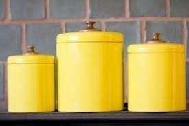 yellow kitchen canisters foter