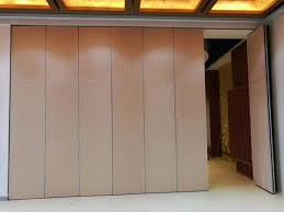 Folding Sliding Doors Interior Operable Office Partition Walls Aluminium Track Rollers Interior