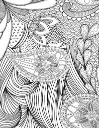 free coloring love crafts pattern