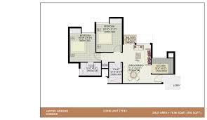 2bhk floor plans jaypee greens