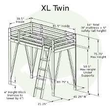 american made adjustable loft bed solid hardwood usa made eco