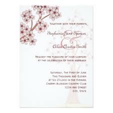 Cherry Blossom Wedding Invitations Cherry Blossom Wedding Invitations U0026 Announcements Zazzle Canada