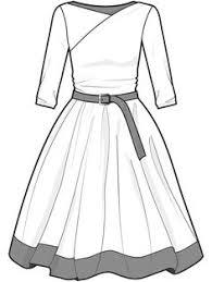 women u0027s sheath dress fashion flat template digital fashion