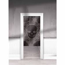curtains interesting entrance door with skull pattern lace