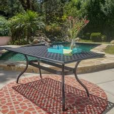 cast aluminum dining table aluminum outdoor dining tables for less overstock com