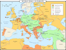 Blank Map Of Wwi Europe by World War I In Europe Map U2013 Maps For World War 1 Map Foto Nakal Co