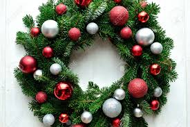 christmas wreath with ornaments part 48 diy christmas