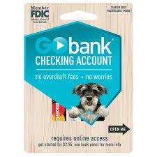 go prepaid card gobank checking account walmart