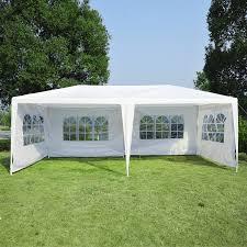 Canopy Tent Wedding by Outsunny 10 U0027 X 20 U0027 Gazebo Canopy Party Tent W 4 Removable Window