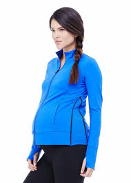 maternity activewear expanding maternity activewear side zip jacket