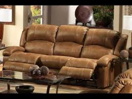 reclining leather sofa with cup holders uk youtube