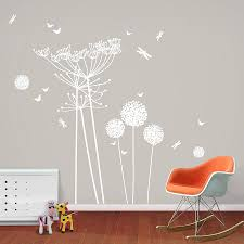 white dandelions and cowparsley wall stickers cow parsley peel and stick these beautiful white wall stickers our range of large scale wall stickers