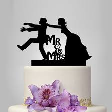 funny wedding cake topper monogram cake topper mr and mrs cake