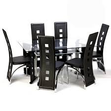 6 seater glass dining table sets destroybmx with regard glass