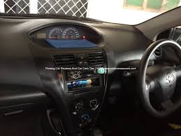 toyota vios how to diy carbon fiber vinyl wrap on toyota vios interior trims