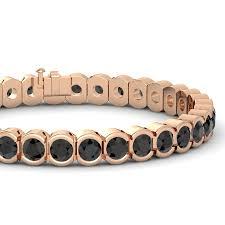 rose gold bracelet diamonds images 14k rose gold bracelet with black diamond star trails bracelet jpg