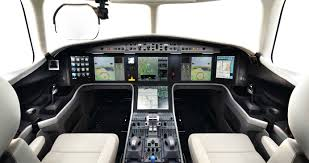 flight deck of the new dassault falcon 5x aviation
