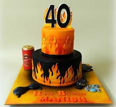 40th birthday cake d cake creations