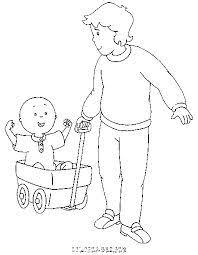 caillou 1 dad u2013 printable father u0027s coloring sheet caillou