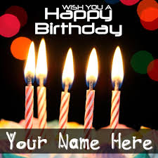 online write name on birthday wish card pictures