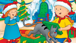 caillou celebrates the holidays with new caillou holiday toy box