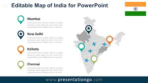Delhi India Map by India Editable Powerpoint Map Presentationgo Com