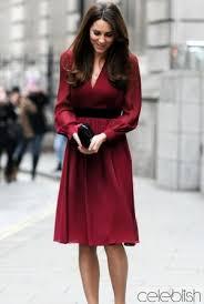 kate middleton burgundy cocktail knee length dress celeblish com