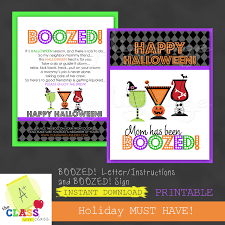 You Ve Been Boozed Halloween Poem Halloween Printable Boozed Letter Sign Pay It Forward
